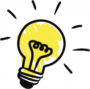 Light bulb representing an idea
