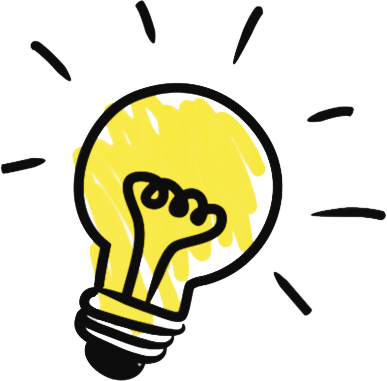 Light bulb representing an idea